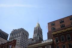 Baltimore (Sam DeGenova) Tags: baltimore buildings city cars sun shine reflections people street america