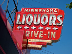 Minnehaha Liquors, Minneapolis, MN (Robby Virus) Tags: lake minnesota sign shop store neon wine minneapolis drivein spirits business liquor alcohol signage arrows booze liquors minnehaha