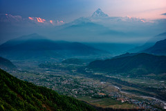 Sunrise view, Sarangkot, Pokhara, Nepal (CamelKW) Tags: nepal pokhara sarangkot sunriseview