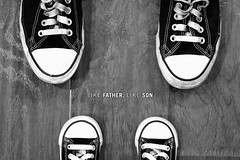 Like Father, Like Son (studioei8htzero.com) Tags: family blackandwhite cute toddler shoes child adult father lifestyle son converse likefatherlikeson