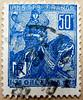 May 30th 1431; great stamp France 50c (Jeanne d'Arc 1412-1431, saint; Joan of Arc, ジャンヌ・ダルク, Giovanna d'Arco, Johanna von Orléans, Жанна д'Арк, 聖女貞德, Juana de Arco) Briefmarke Frankreich timbre postage Francia sello 邮票 法国 yóupiào Fǎguó почтовая марка Фран (stampolina, thx for sending stamps! :)) Tags: blue france saint azul postes french orleans frankreich blauw blu stamps bleu marianne blau azzurro niebieski mavi joanofarc biru bleue blå sellos jeannedarc orelans juanadearco 1412 1431 briefmarken синий nationalhero selos timbres kék giovannadarco timbreposte francobolli bollo голубой 兰色 may30th johannavonorléans modrý frimaerke azzur 聖女貞德 สีน้ำเงิน ジャンヌ・ダルク жаннад'арк