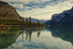 Celebrate 5 Million views (John Andersen (JPAndersen images)) Tags: lake mountains fall clouds reflections alberta banff minnewanka ndfilter leefilter