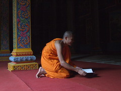 . (oksana8happy) Tags: copyright writing temple pagoda asia asien cambodge cambodia heiconeumeyer kambodscha seasia soasien southeastasia südostasien buddhist faith religion belief monk buddhism monks bow phnompenh write wat confession tempel bowing buddhists schreiben mönche pagode mönch copyrighted buddhismus buddhistic knien konfession watbotum heiconeumeyercom buddhisten buddhistisch unalteredimagelooksbetterafteradjustments watbotom watbotomvadey watbottom watbottomwattey watbotumwattey