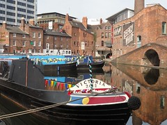 2015 04 24 091 Birmingham canals - Gas Street Basin (Mark Baker.) Tags: street city uk bridge england english canal photo spring birmingham europe baker britain mark centre united great kingdom basin gas photograph gb april british narrowboat worcester 2015 picsmark