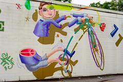 Peace Out (-Dons) Tags: usa streetart bicycle wall orlando peace unitedstates florida fl peacesign peaceout muralart sebastiancoolidge lampshadefair