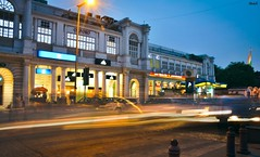 Connaught Place, New Delhi (Rastafarian_blog) Tags: new travel india night place market delhi explore nightlife roads cp connaught