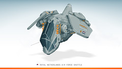 Royal Netherlands Air Force - Shuttle concept (Brixnspace) Tags: dutch digital lego drawing space cockpit shuttle concept intuos3 luchtmacht dropship