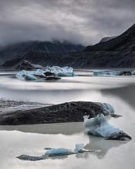 Tasman Lake & Glacial Ice (saganorth2000) Tags: newzealand lake mountains ice clouds southisland iceberg glacial mountcook aoraki tasmanglacier tasmanlake aorakimountcooknationalpark