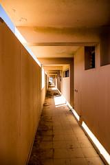 Sempiterno (Lara Arajo.) Tags: color luz yellow canon hotel luces colorful canarias dia diagonal amarillo conceptual infinito canaryislands infinite pasillo abandonado airelibre abandonedplace canoneos6d laraarajo