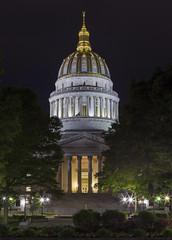 Charleston West Virginia Statehouse (player_pleasure) Tags: panorama architecture night nightlights political westvirginia government nightsky statehouse verticalpanorama vertorama
