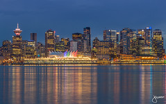 Downtown Vancouver views from Lonsdale (jennchanphotography) Tags: city nightphotography travel blue tourism skyline night vancouver downtown cityscape hour nightscapes jennchanphotography