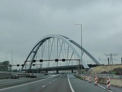 Railway bridge over highway A1 (Alta alatis patent) Tags: bridge construction railway move infrastructure a1