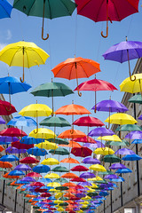 Rainbow sky (Stuart.67) Tags: sky art public rainbow nikon bath colours umberella d800