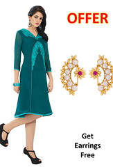 Readymade Sea Green Kurti With Stylish Earrings (nikvikonline) Tags: green women designer wear online frock weddingdress kurtis stylish desinger tunic drap womenswear dailywear tunics kurti womenclothing designerwear womenfashion designercollection onlinewomens stylishkurtis womenstopwear womentopwear stylishtunic greenkurtis greenkurtas kurtiskurtas