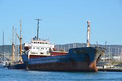 Le Rio Tagus, un tristement celbre navire poubelle. (maxguitare1) Tags: france boat barca barco cargo nave bateau carico ste navire carga chimiquier