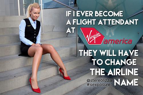 Virgin America Flight Attendant- Stereolizza Sexposure Meme