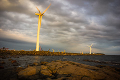 Postcard from Finland (reposaari) (sammy_boogeyman) Tags: finland seaside wind windturbine reposaari