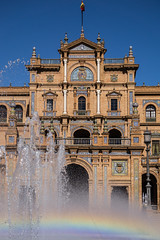 Central building, Plaza de Espaa (andbog) Tags: plaza espaa building fountain architecture square rainbow sevilla spain sony edificio fuente seville andalucia espana piazza es alpha sonya andalusia sel fontana arcobaleno architettura plazadeespaa spagna csc oss siviglia ilce sonyalpha mirrorless neomudjar a6000 sony 55210mm emount sel55210 sonyalpha6000 ilce6000 sonya6000 sonyilce6000 sony6000 6000