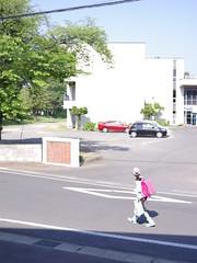 Good Morning from My Window. May 18, 2016 (fukapon) Tags: people girl pentax aomori hirosaki schoolgirl frommywindow smc f28 tweet  75mm  sghs  smcpfa64575mmf28 pentaxfa645 flickrandroidapp:filter=none 645z goodmorningfrommywindow