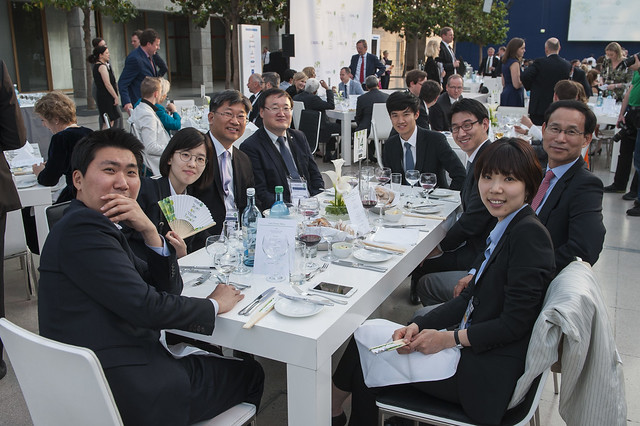 Korean delegates attend the Gala Dinner