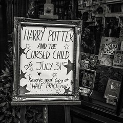 Harry Potter and the cursed child... (kokorage) Tags: london english advertising book harrypotter bookstore publicity