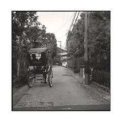 wheels  osaka, kansai  2015 (lem's) Tags: japan rolleiflex path wheels tourists trail osaka visiting kansai japon chemin planar touristes pousse roues