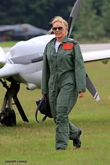 Carol Vorderman   J78A0033 (M0JRA) Tags: people flying airshow carol planes raf cosford vorderman