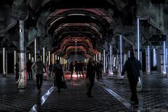 Caminando entre neones (Carhove) Tags: light luz architecture arquitectura madrid mataderodemadrid