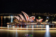 Sydney (Qicong Lin(Kenta)) Tags: travel sea color colour reflection building water festival architecture night downtown exterior harbour outdoor sydney australia circularquay quay projection nightlight d5 urbanlandscape sydneyoperahouse coloris vividsydney