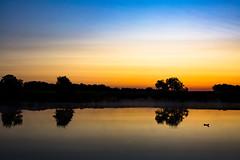 Early Morning (adamopal) Tags: morning blue camping orange lake black yellow canon early earlymorning lakeside canon5d ruralmissouri ruralmo canon5dmkiii skyrural
