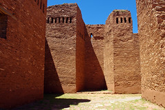 Quarai ruins - Salinas Pueblo Mission National Monument, Torrance Co., New Mexico. (cbrozek21) Tags: newmexico church stone ruins mission stonewalls oldchurch nationalmonument spanishmission redstone quarai quarairuins salinaspueblomissionnationalmonument