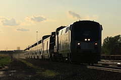 Eastbound Cap (GLC 392) Tags: railroad cloud sun pine train afternoon ns norfolk indiana railway 15 junction southern amtrak gary passenger ge glint 512 in jct amtk p42dc b328wh