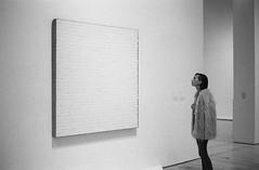 Art opening (Adam Chin) Tags: bw art sfmoma zeissikon fujineopan400 zeissbiogon35mm20