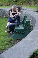 Jennifer and Steve 11 (flashpoint-70) Tags: portraits outdoors couple dress sweet flirt romance blond portraiture halifax embrace engagementphotos environmentalportraiture