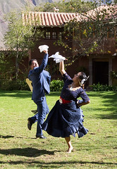 Peruvian Dancers - 2 (cheryl strahl) Tags: peru southamerica dancers traditional sacredvalleyoftheincas urubambavalley huayllabamba huayoccarihacienda haciendahuayllabamba orihuelafamily