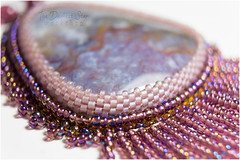 purple medusa (The Darkest Star ) Tags: beadwork beadembroidery
