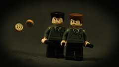 LEGO Crabbe & Goyle (Geertos13) Tags: cookies muffins idiot lego dumb harry potter drugs custom potion malfoy crabbe polyjuice minifigures fiendfyre goyleslytherin