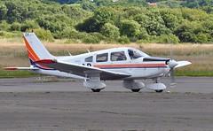 G-BNOP (goweravig) Tags: uk swansea wales aircraft piper visiting swanseaairport cherokeewarrior gbnop