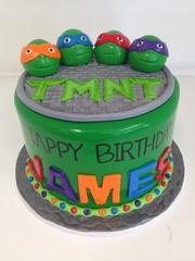 Teenage Mutant Ninja Turtle cake (3435) (Asweetdesign) Tags: birthday green cake turtle ninja tmnt fondant