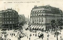 Paris - Place de l'Opra et rue de la Paix (hugom_08) Tags: paris france place opra rue paix cartepostale