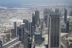 Dubai Cityscape from Burj Khalifa (steven.kemp) Tags: building dubai emirates reflected khalifa burj tallest
