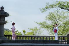 @Kiyomizu-dera (helio miura photography) Tags: camera girls japan temple photography japanese kyoto kimono kiyomizudera sunnyday nikond810 nikkor24120mmf4