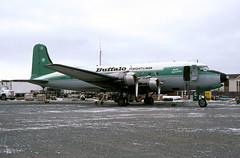Buffalo Airways DC-4 C-GPSH 13May2000 (Peter M Garwood) Tags: canada aircraft nwt northwestterritories douglas yellowknife dc4 propliner buffaloairways skytruck cgpsh arcticdistributor