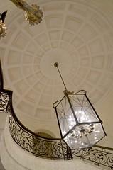 looking upstairs (Pejasar) Tags: door oklahoma dinner rail ceiling upstairs chandelier tulsa fundraiser conferencecenter gatheringheartsforhonduras