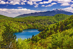 Diametral (TranceVelebit) Tags: park blue mountain lake snow green water clouds forest spring lakes croatia lika national cumulus np gola plitvice dinaricalps plitvickajezera dinaridi lickapljesivica pljesivica