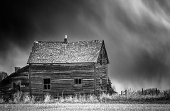 Storm (Explored 5/14/15) (qualistat) Tags: wood old house weather clouds dark was stormy alberta once thunder dilapidated home