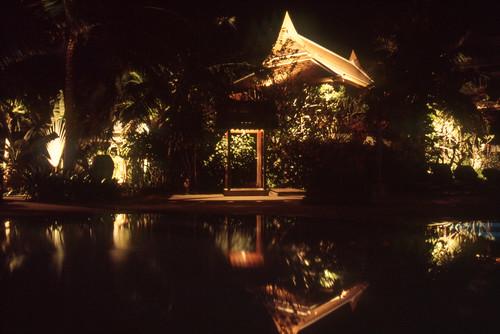 Royal Garden Village at night