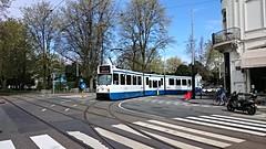 Trams op Koningsdag 17 (Peter ( phonepics only) Eijkman) Tags: city holland netherlands amsterdam transport nederland tram rail bn rails trams strassenbahn noordholland gvb tramtracks streetcars nederlandse trapkar