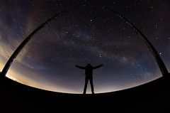 Look at the sky (valent68) Tags: night dark way stars shadows fisheye 8mm milky voie samyang lacte d7000