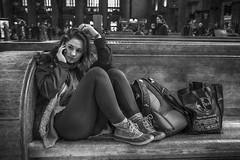 30th Street Station, 2016 (Alan Barr) Tags: street people blackandwhite bw philadelphia monochrome mono blackwhite candid streetphotography sp streetphoto gr 30thstreetstation ricoh 2016